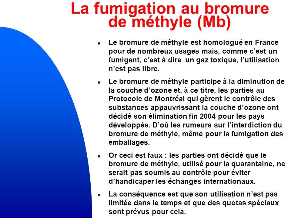 La fumigation au bromure de méthyle (Mb)