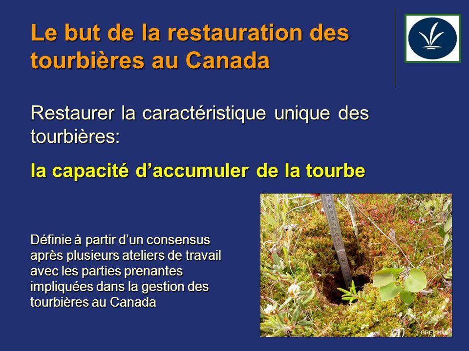Le but de la restauration des tourbières au Canada