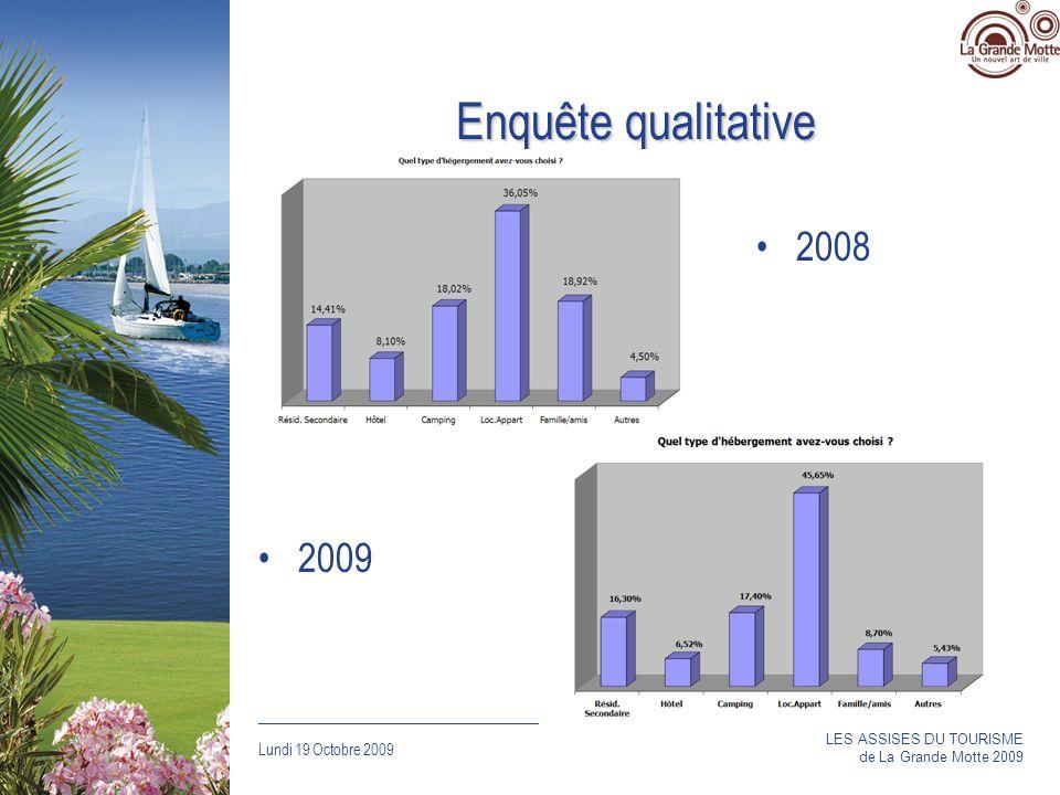 Enquête qualitative 2008 2009 LES ASSISES DU TOURISME