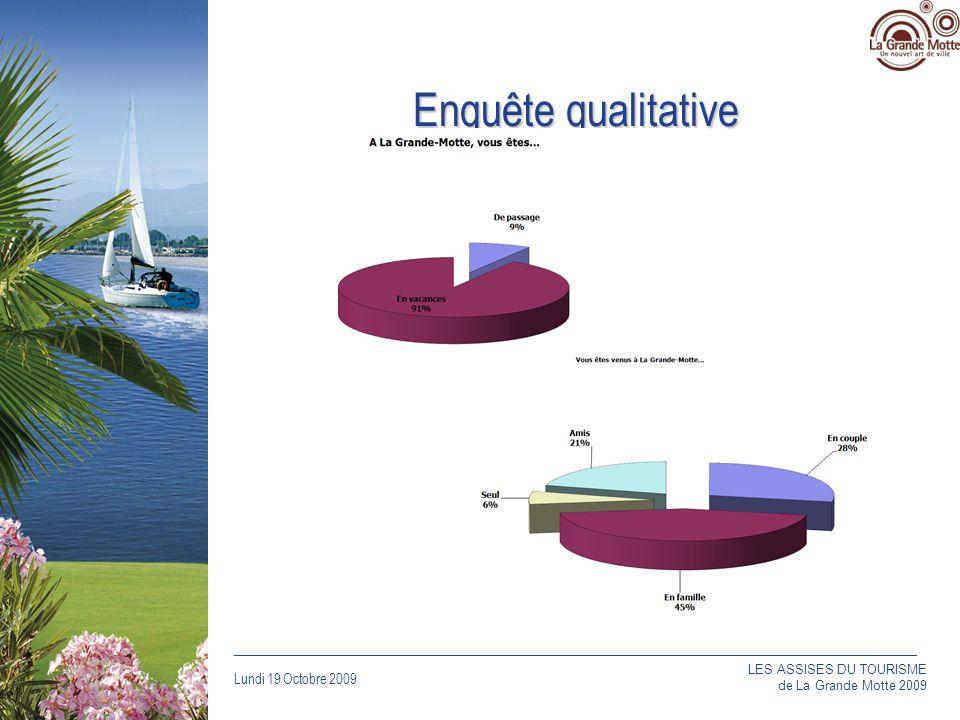 Enquête qualitative LES ASSISES DU TOURISME de La Grande Motte 2009