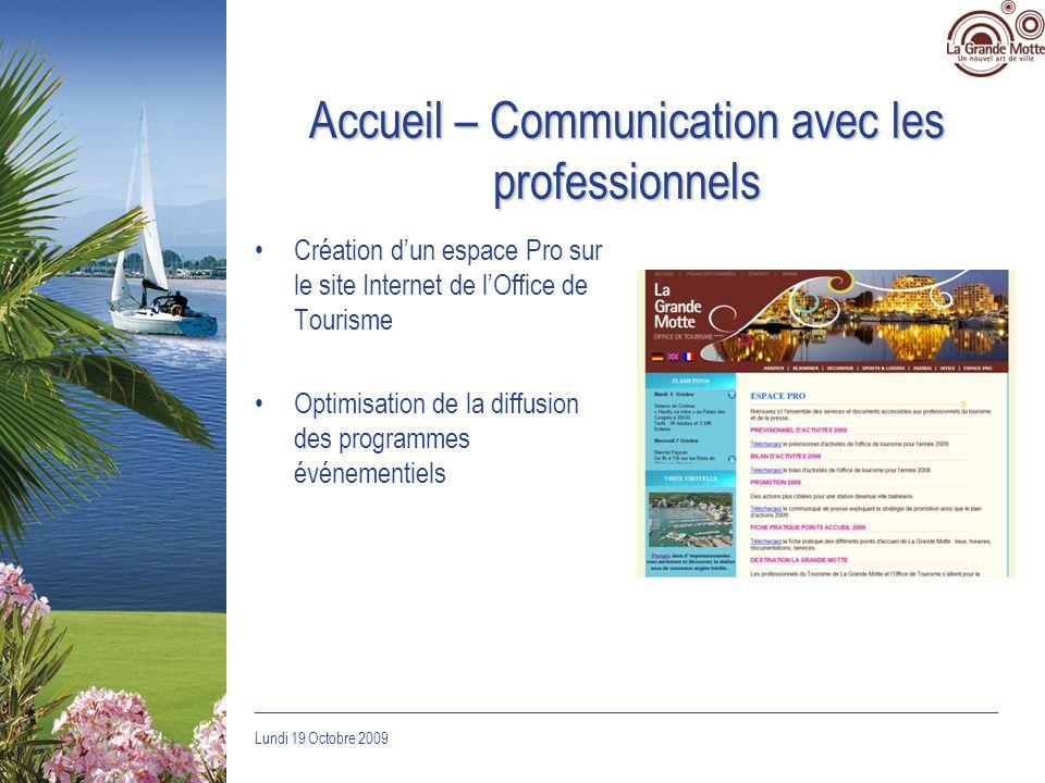 Accueil – Communication avec les professionnels