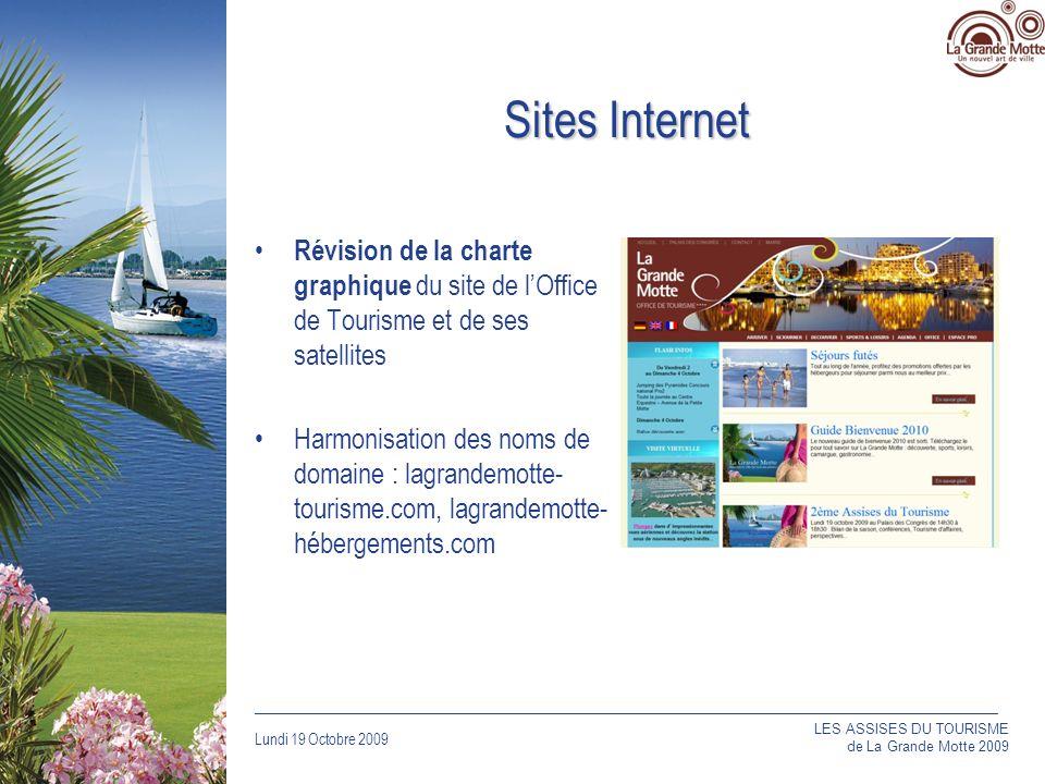 Sites Internet Révision de la charte graphique du site de l'Office de Tourisme et de ses satellites.