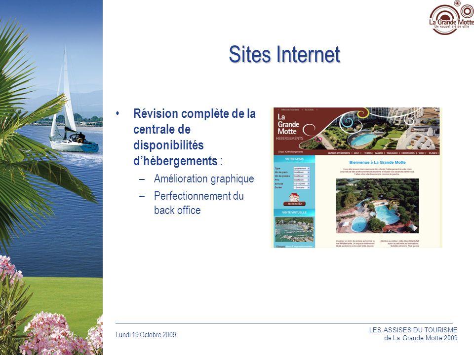 Sites Internet Révision complète de la centrale de disponibilités d'hébergements : Amélioration graphique.