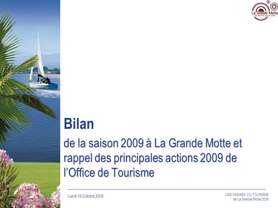 Bilan de la saison 2009 à La Grande Motte et rappel des principales actions 2009 de l'Office de Tourisme.