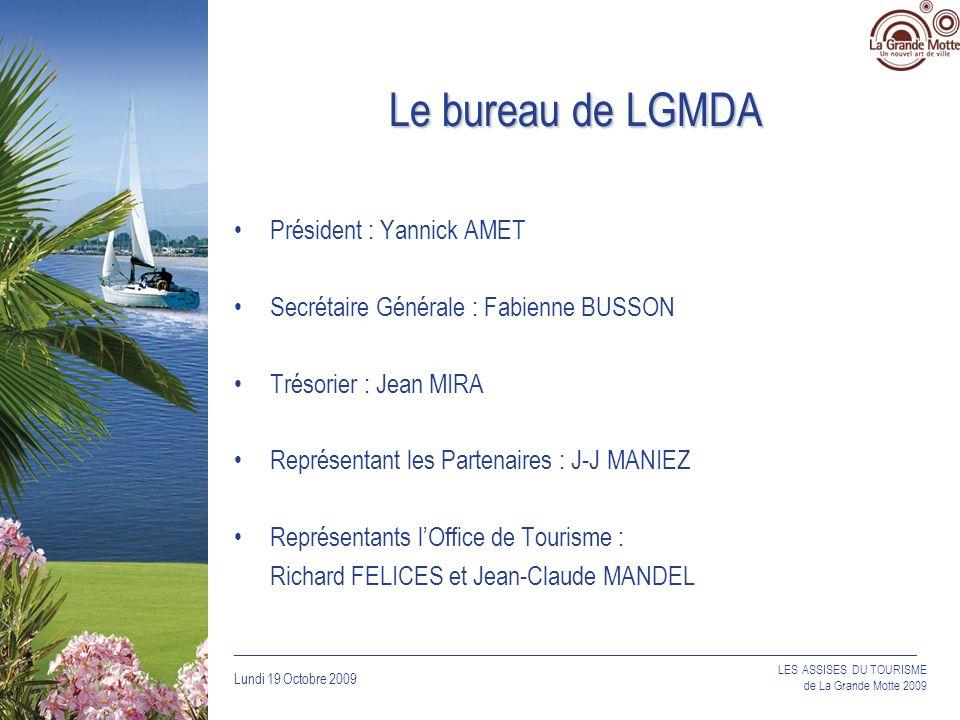 Le bureau de LGMDA Président : Yannick AMET