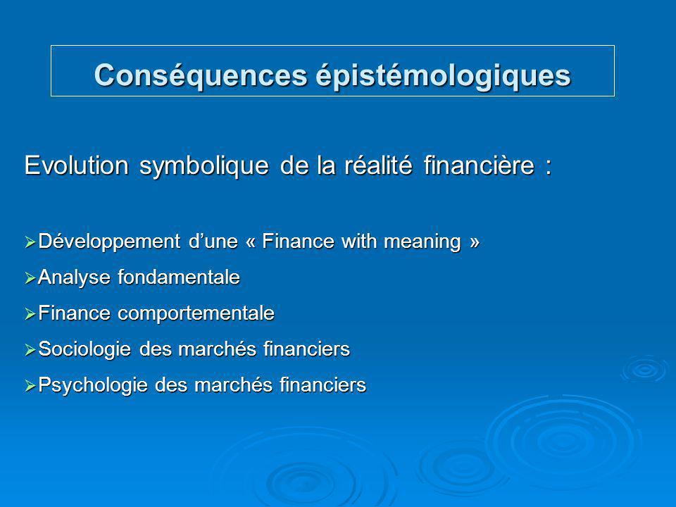 Conséquences épistémologiques
