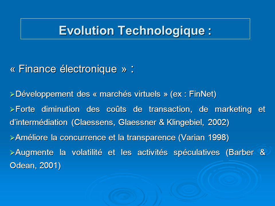 Evolution Technologique :
