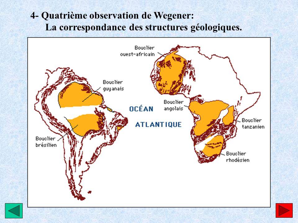 4- Quatrième observation de Wegener:
