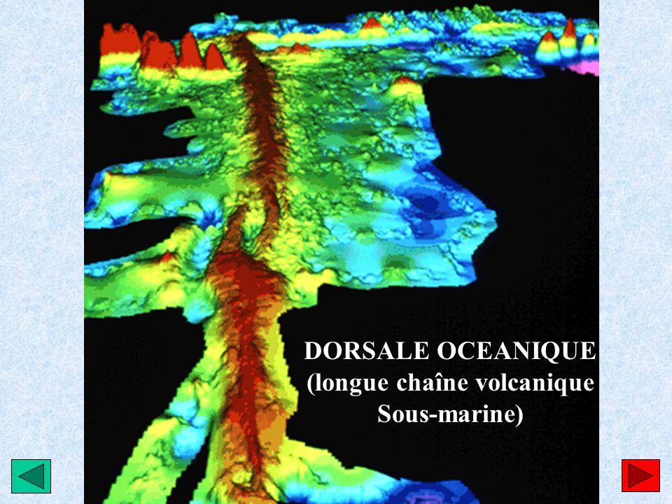 (longue chaîne volcanique