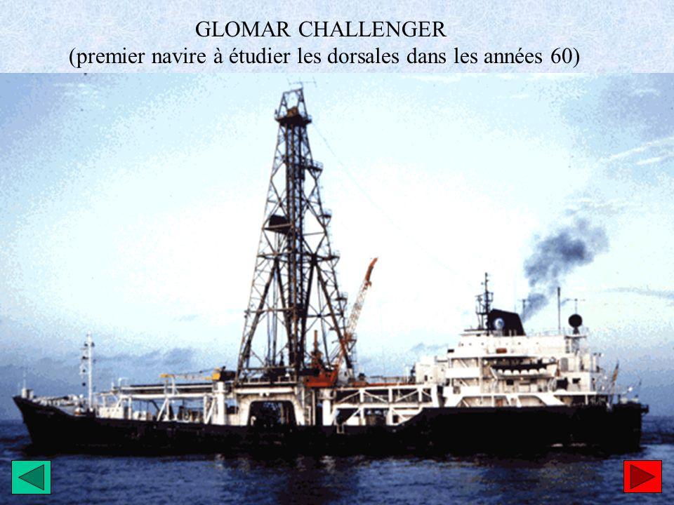 (premier navire à étudier les dorsales dans les années 60)