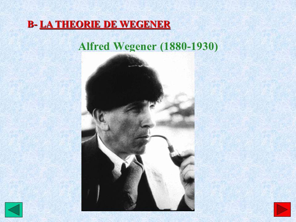 B- LA THEORIE DE WEGENER