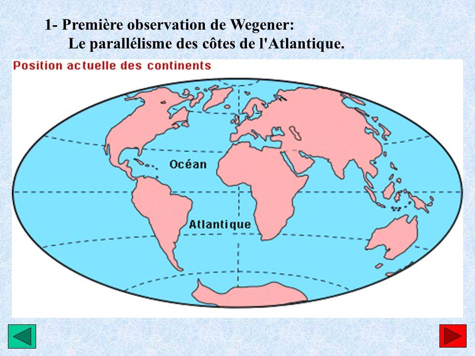 1- Première observation de Wegener: