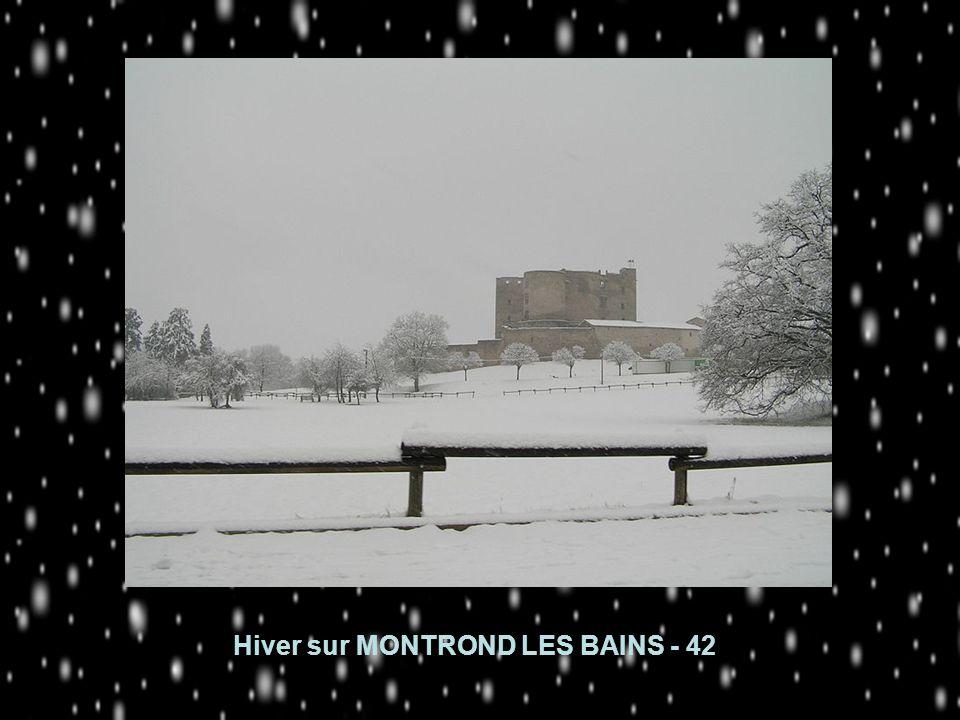 Hiver sur MONTROND LES BAINS - 42 La Loire à MONTROND LES BAINS - 42