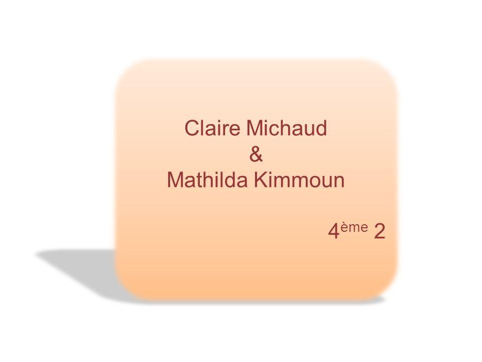 Claire Michaud & Mathilda Kimmoun 4ème 2