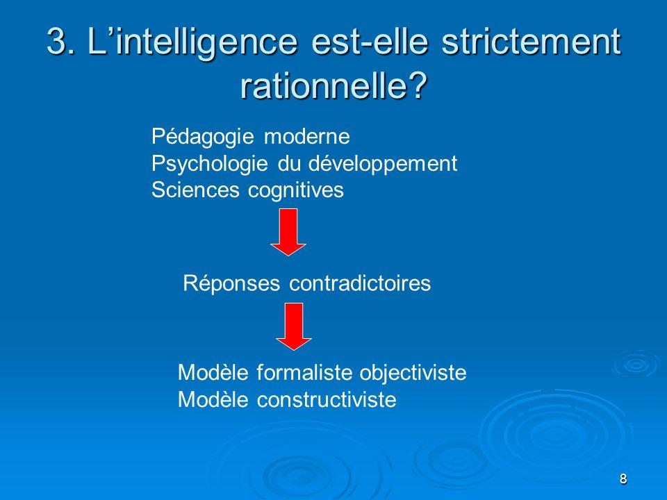 3. L'intelligence est-elle strictement rationnelle
