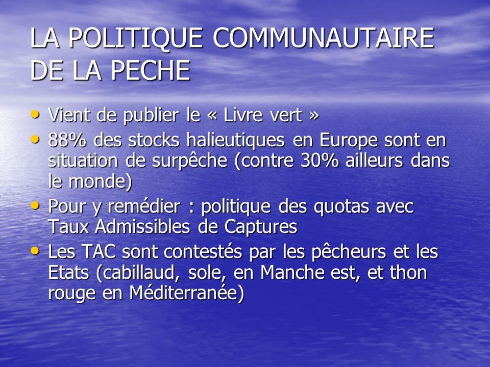 LA POLITIQUE COMMUNAUTAIRE DE LA PECHE
