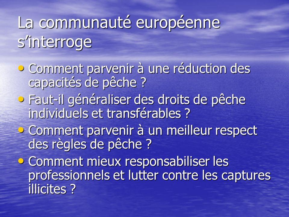La communauté européenne s'interroge