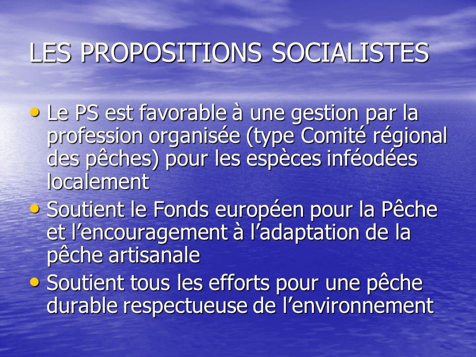 LES PROPOSITIONS SOCIALISTES