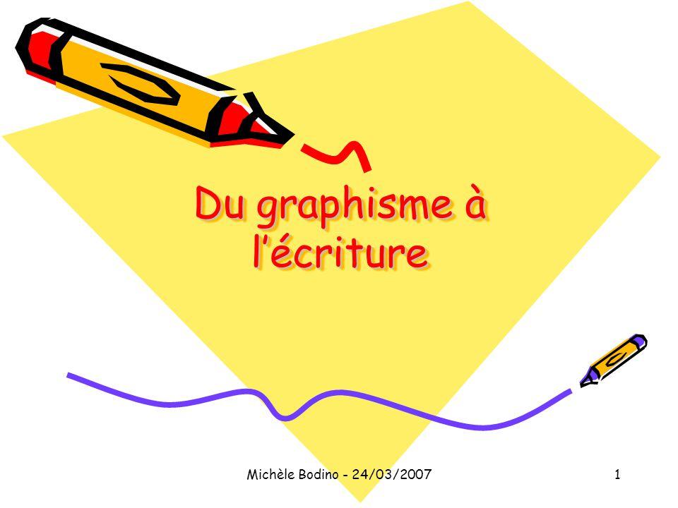 Du graphisme à l'écriture