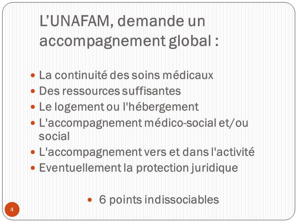 L'UNAFAM, demande un accompagnement global :