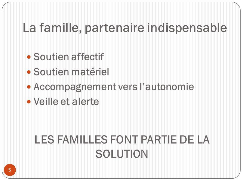 La famille, partenaire indispensable