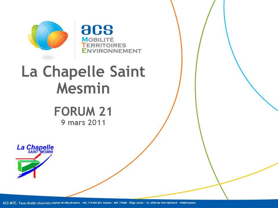 La Chapelle Saint Mesmin FORUM 21 9 mars 2011
