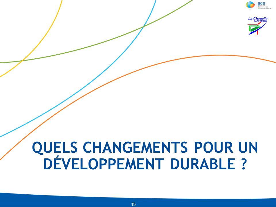 Quels changements pour un développement durable