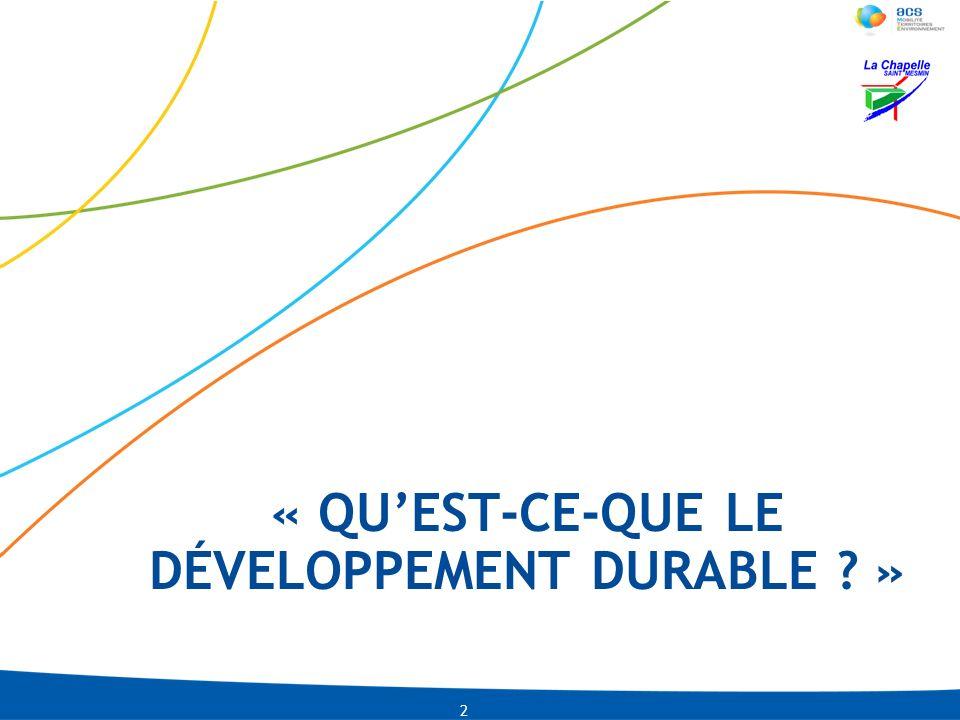 « qu'est-ce-que le développement durable »