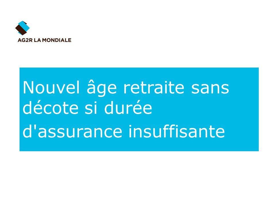 Nouvel âge retraite sans décote si durée d assurance insuffisante