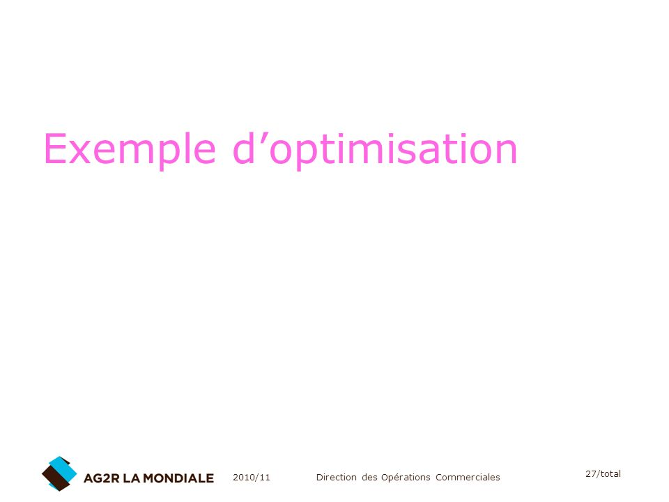 Exemple d'optimisation