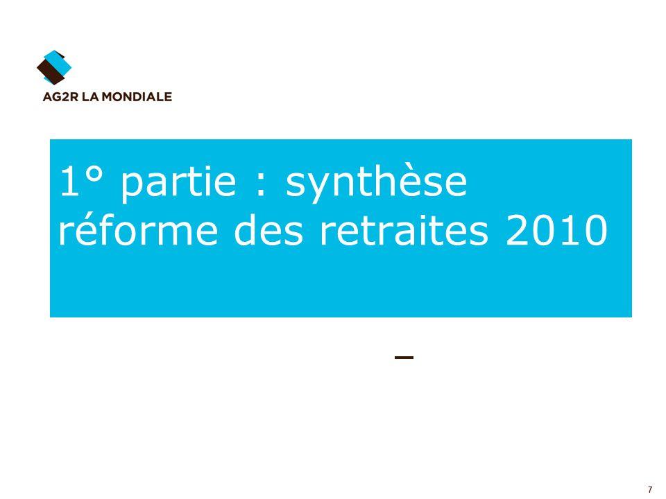 1° partie : synthèse réforme des retraites 2010