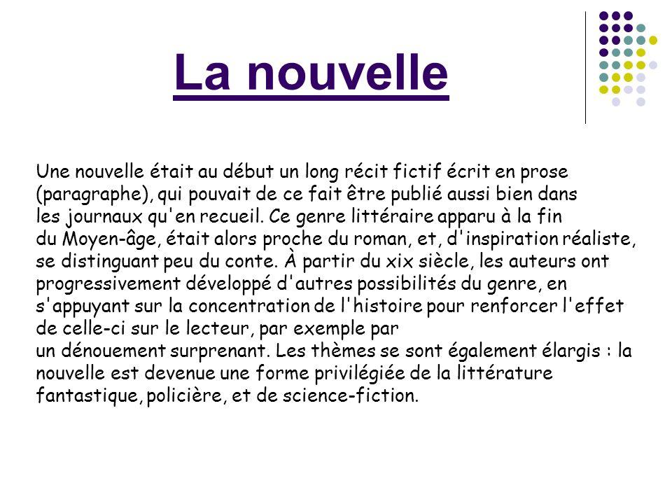 La nouvelle la nouvelle r aliste ppt video online t l charger - Definition d une histoire ...