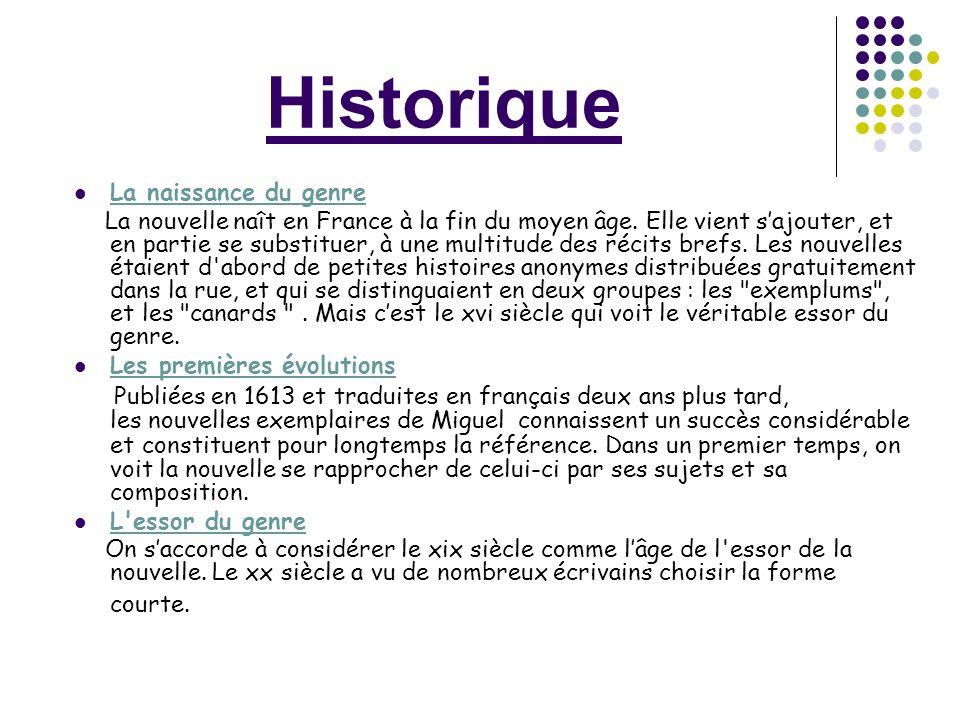 Historique La naissance du genre.