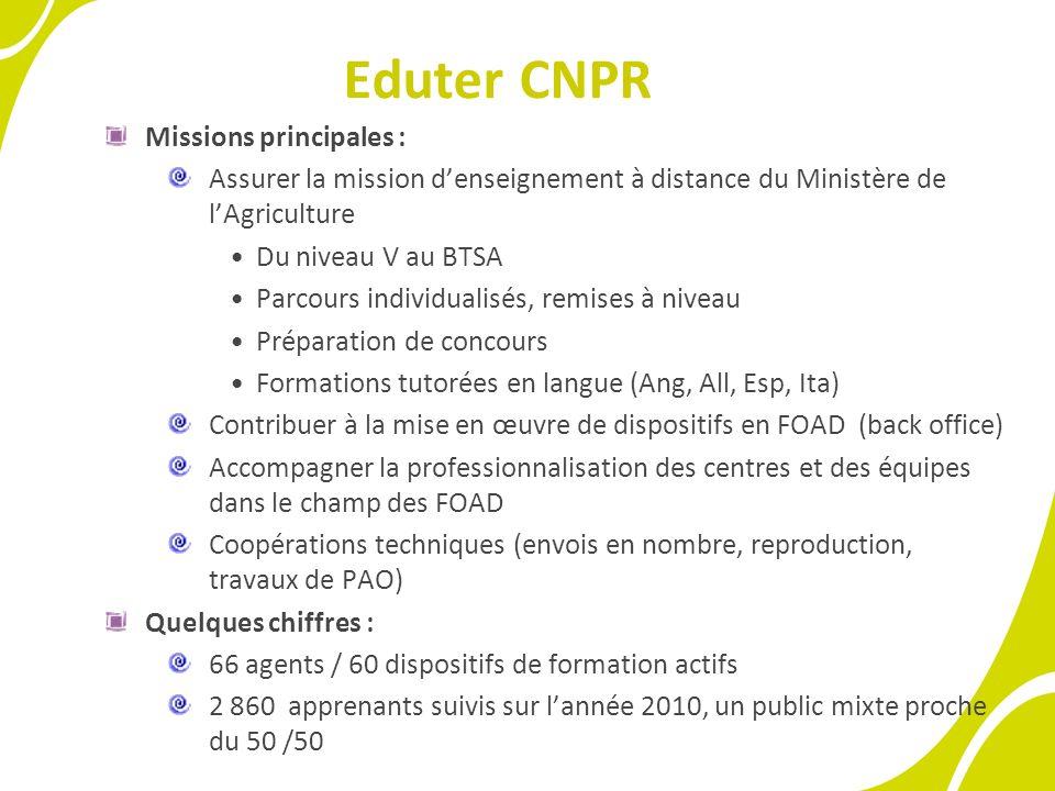 L'institut EduterComposante d'AgroSup Dijon, Institut National des Sciences Agronomiques de l'Alimentation et de l'Environnement.