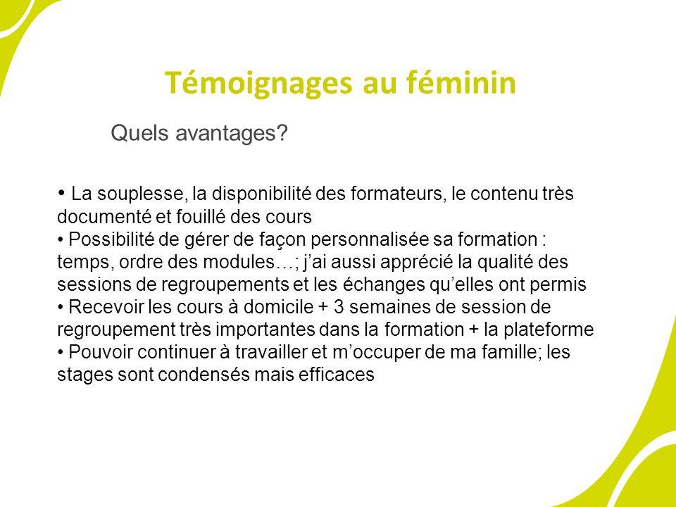 Témoignages au féminin