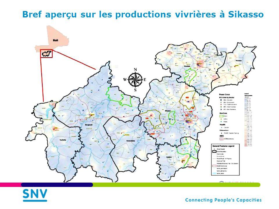 Bref aperçu sur les productions vivrières à Sikasso