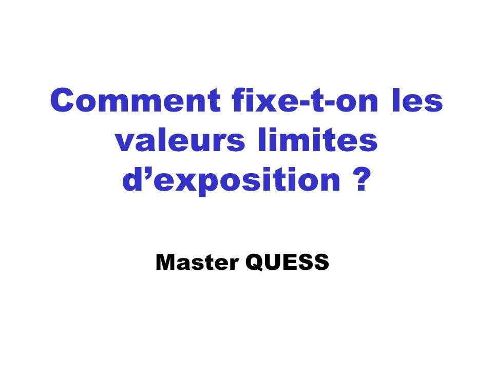 Comment fixe-t-on les valeurs limites d'exposition