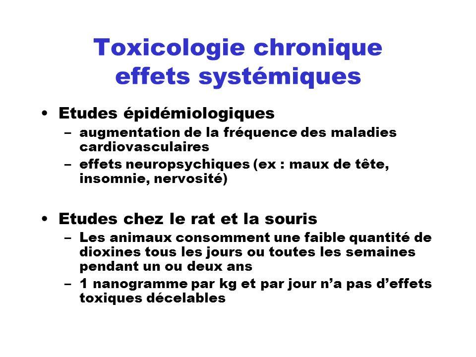 Toxicologie chronique effets systémiques