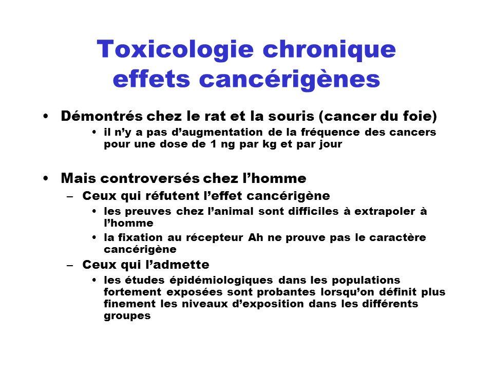Toxicologie chronique effets cancérigènes