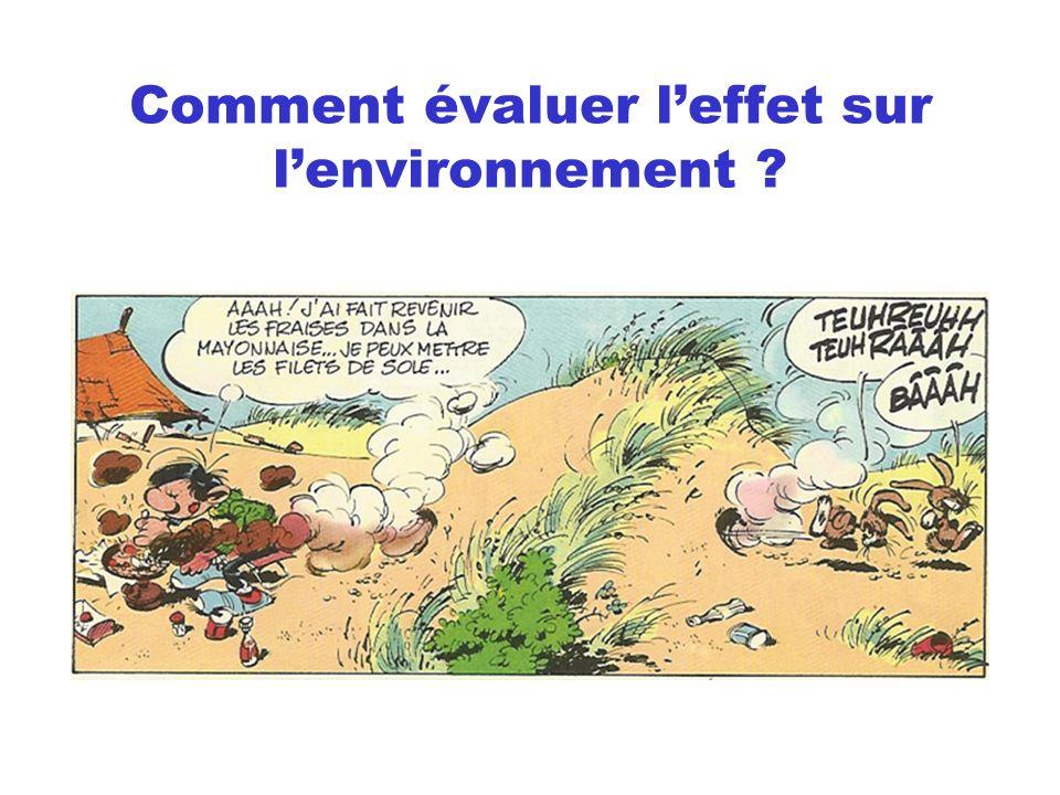 Comment évaluer l'effet sur l'environnement