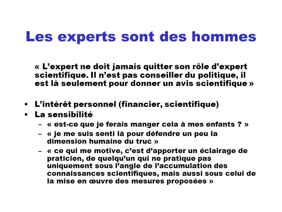 Les experts sont des hommes
