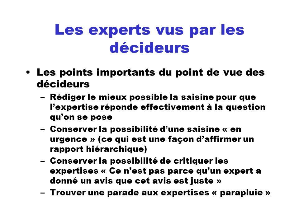 Les experts vus par les décideurs