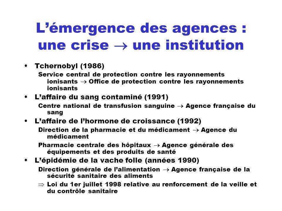 L'émergence des agences : une crise  une institution