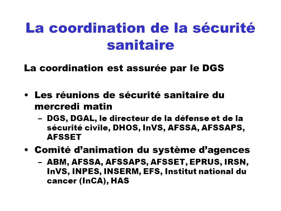 La coordination de la sécurité sanitaire