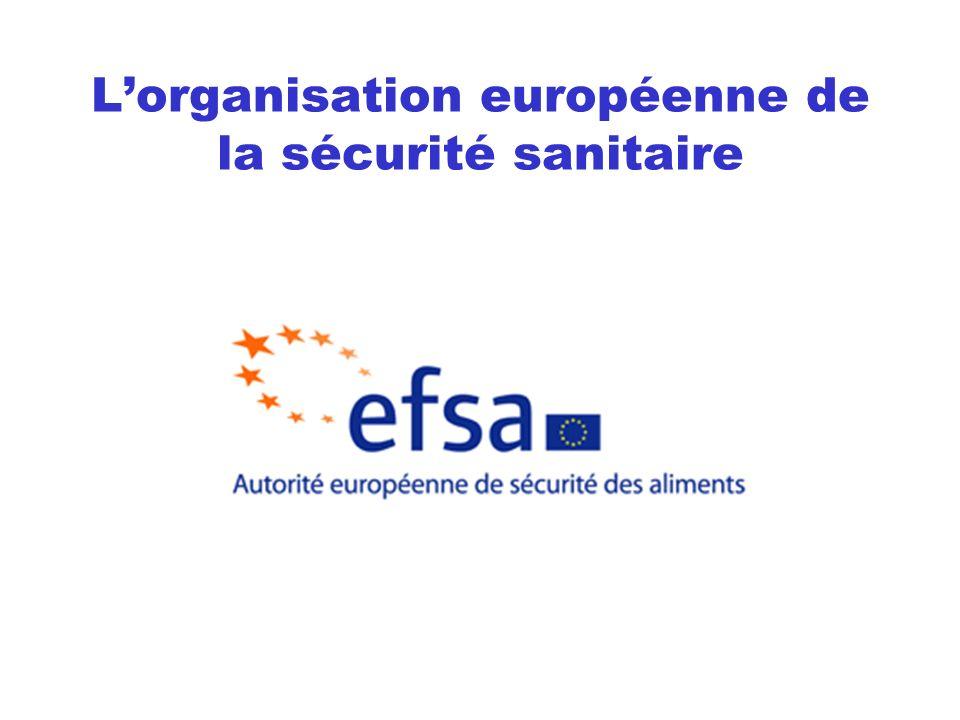 L'organisation européenne de la sécurité sanitaire