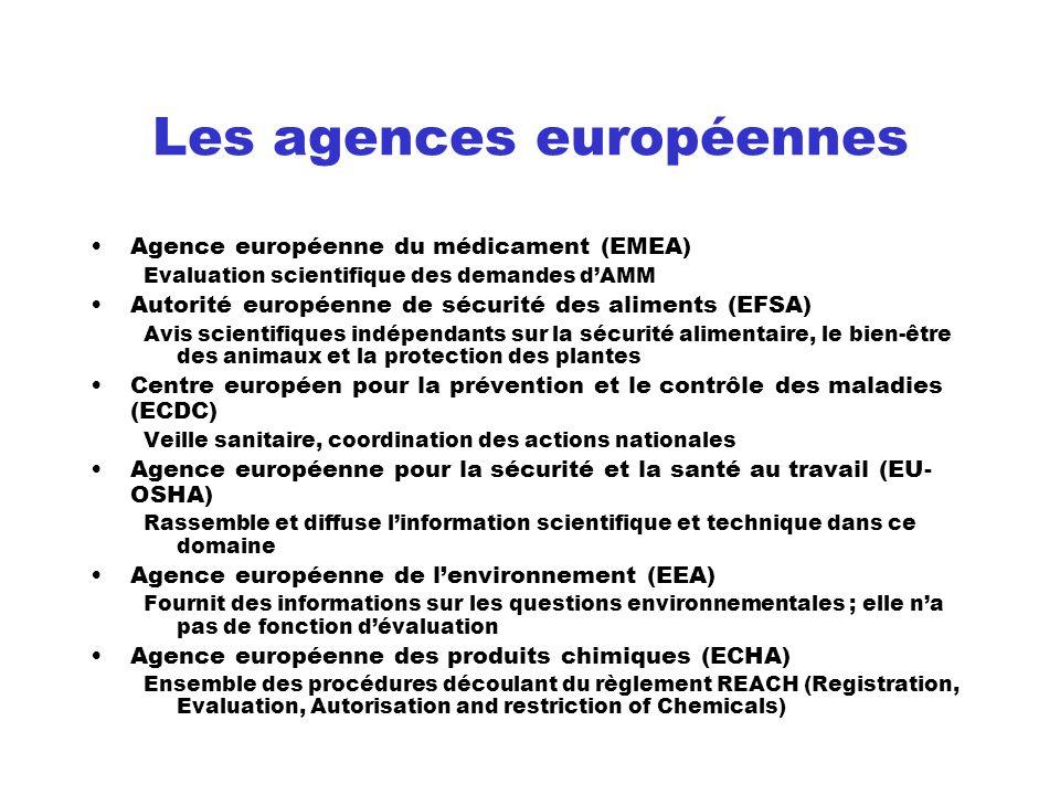 Les agences européennes