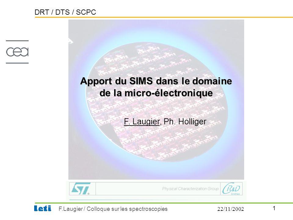 Apport du SIMS dans le domaine de la micro-électronique