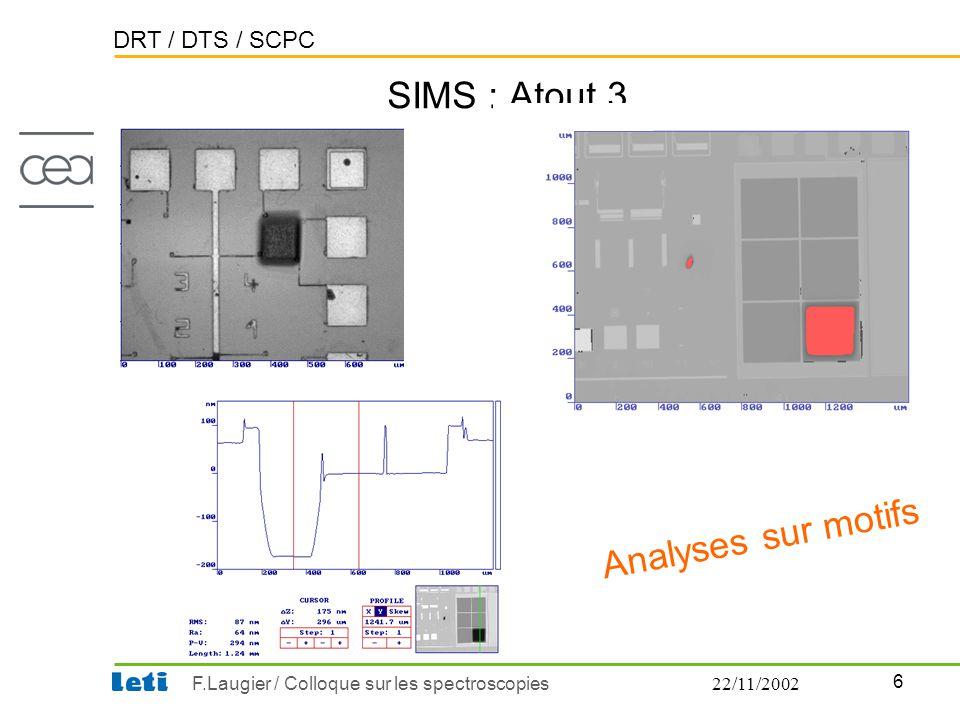 SIMS : Atout 3 Analyses sur motifs 22/11/2002