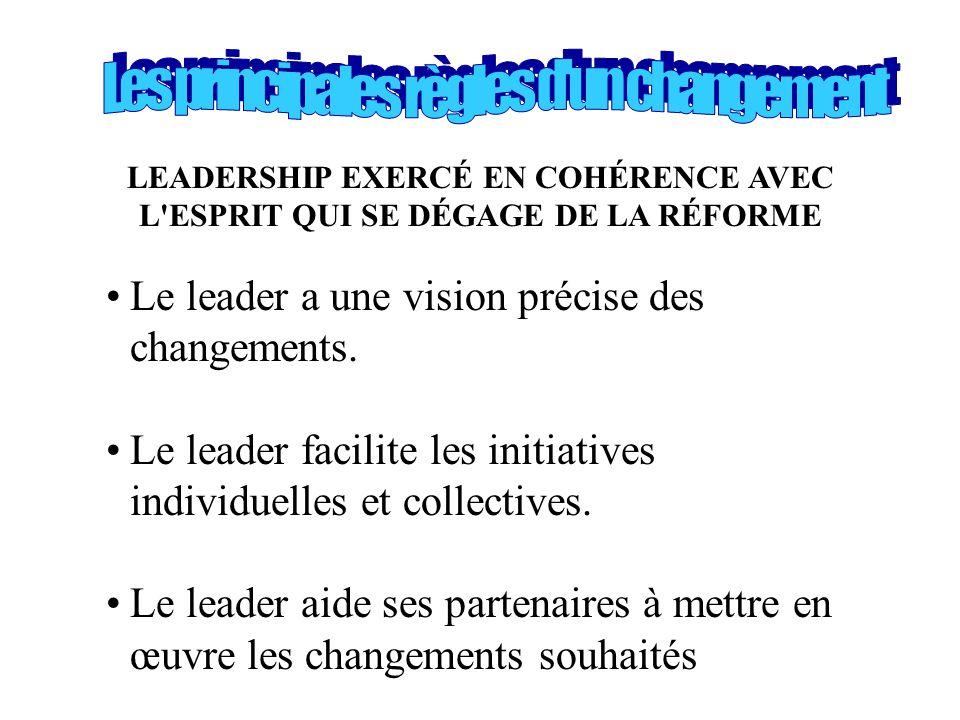 Les principales règles d un changement