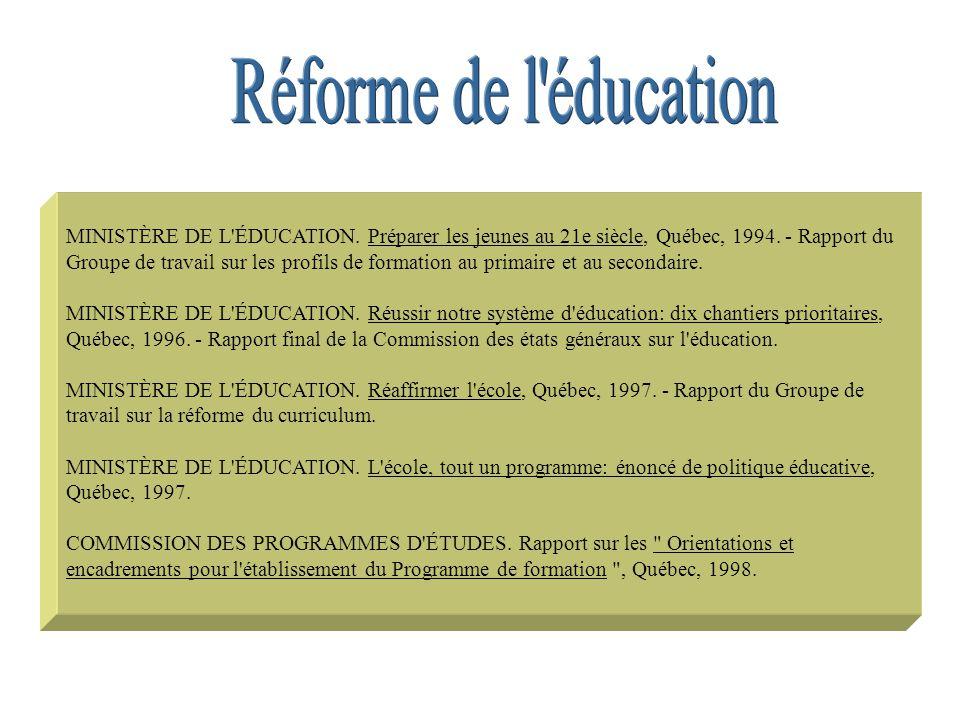 Réforme de l éducation